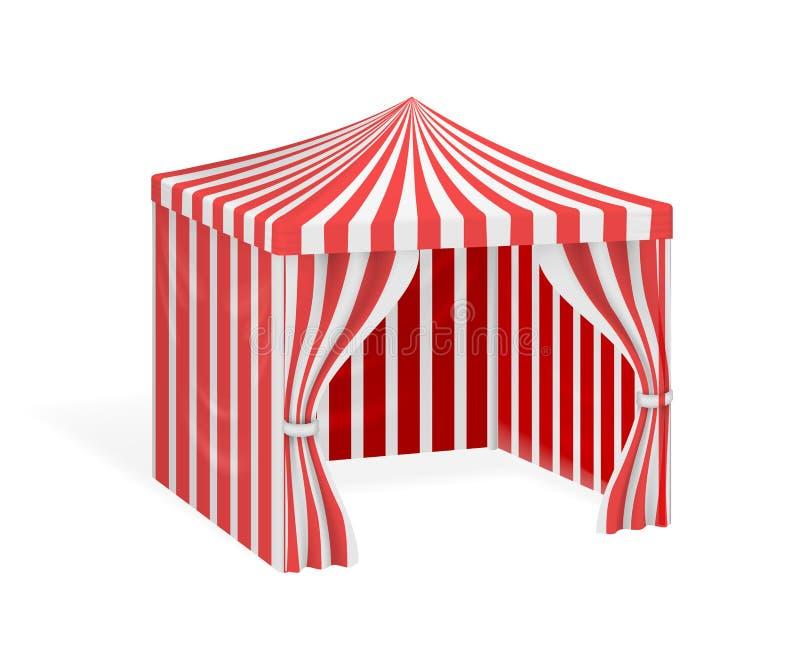 Barraca do carnaval para a ilustração exterior do evento do partido ilustração do vetor