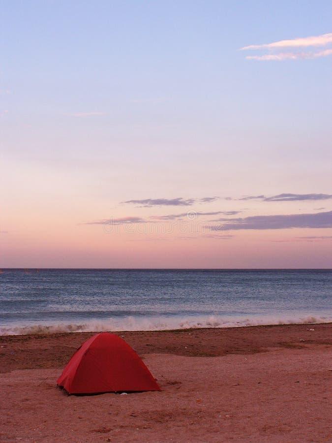 Barraca em uma praia foto de stock