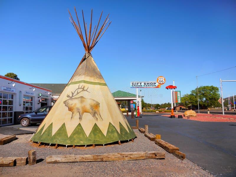 Barraca indiana Teepe do nativo americano fotos de stock royalty free