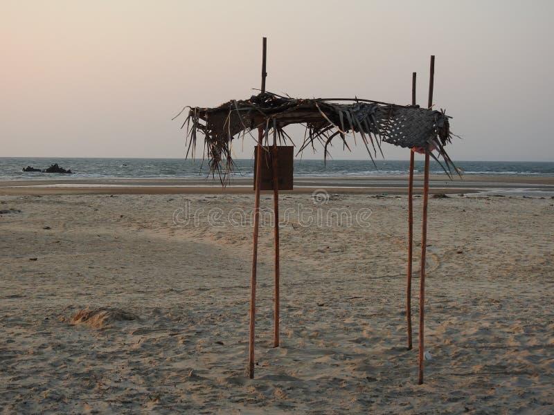 Barraca vazia, praia de Redi imagem de stock royalty free