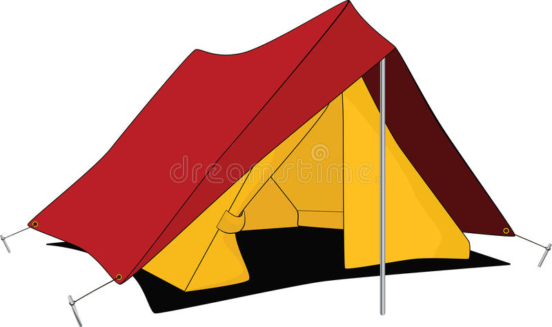 Barraca vermelha. Desenhos animados ilustração royalty free