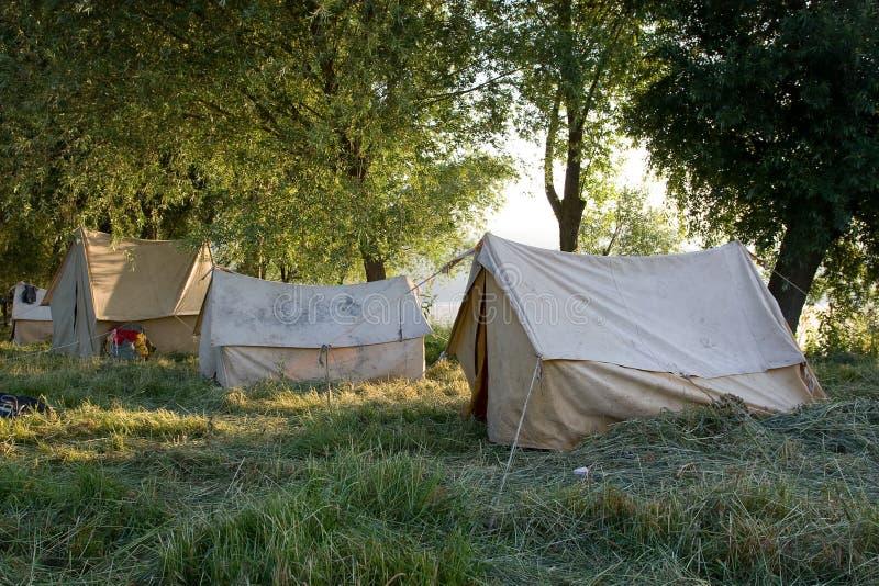 Barracas de acampamento. imagem de stock royalty free