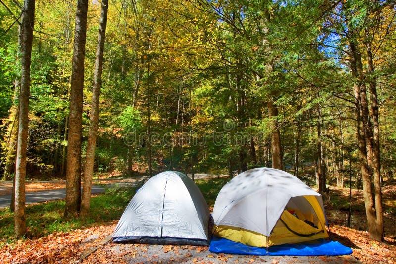 Barracas de acampamento imagem de stock royalty free