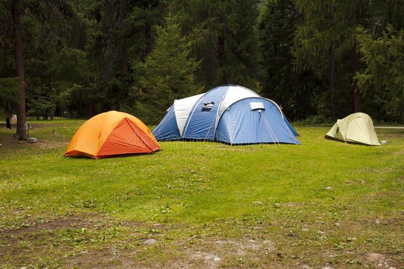 Barracas de acampamento fotografia de stock royalty free