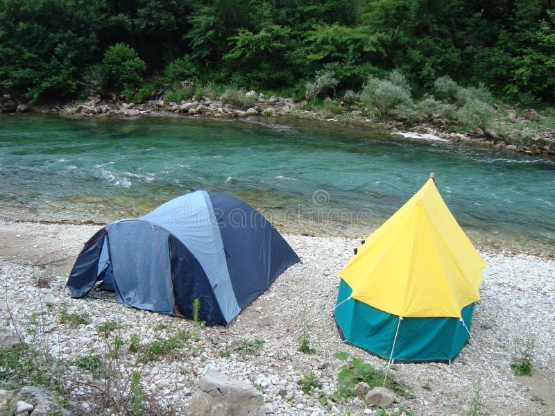 Barracas de acampamento foto de stock