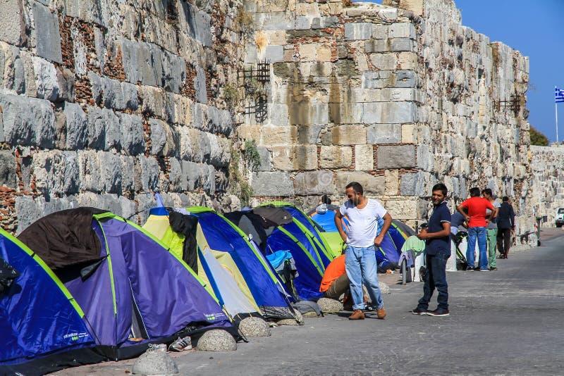 Barracas do refugiado fotos de stock royalty free