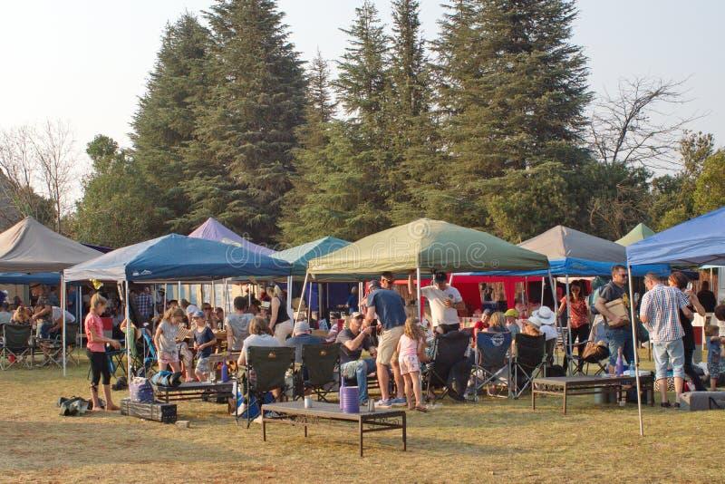 Barracas em um festival de vinho fotografia de stock royalty free