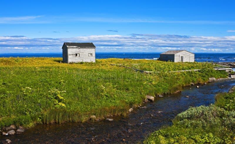 Barracas entre o esplendor, Terra Nova imagens de stock