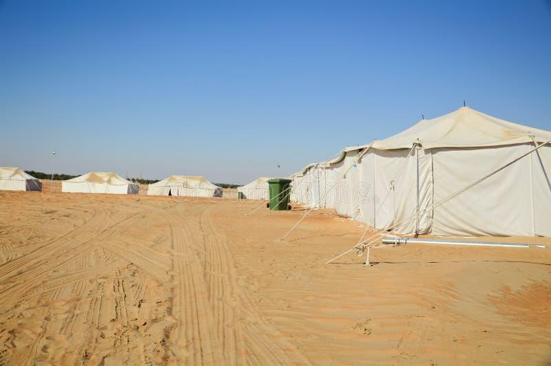 Barracas no deserto fotografia de stock