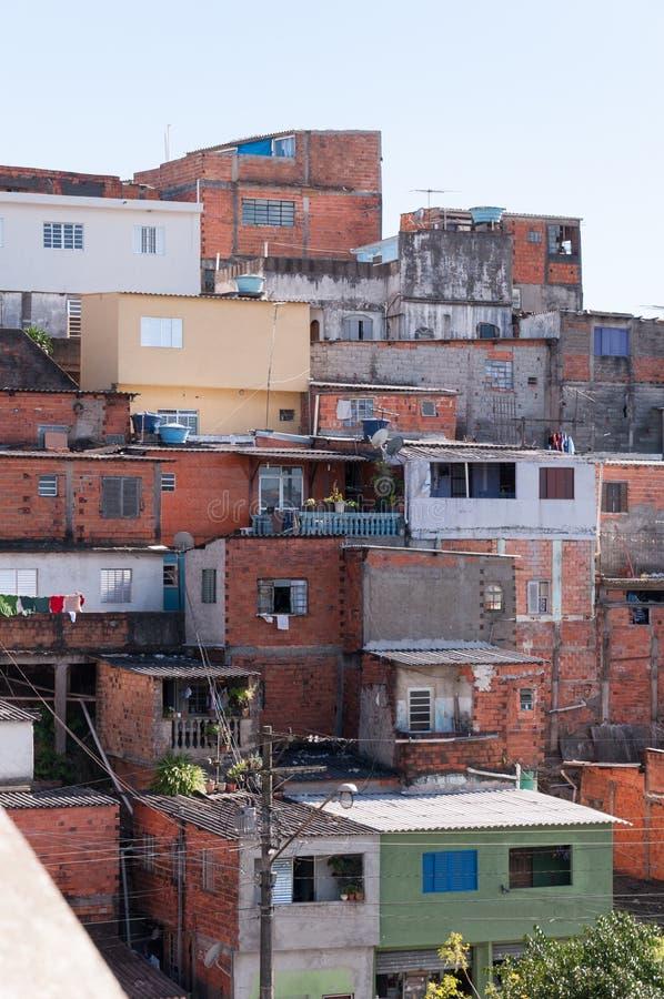 Barracas no precário em Sao Paulo fotografia de stock royalty free