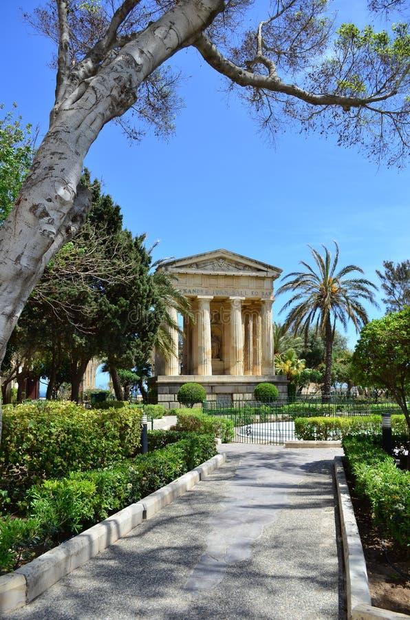 barracca садовничает более низкий malta valletta стоковая фотография rf