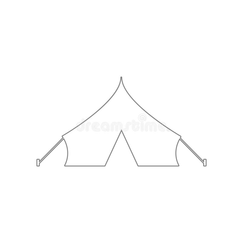Barracks, military tent icon. Element of Army for mobile concept and web apps icon. Outline, thin line icon for website design and royalty free illustration