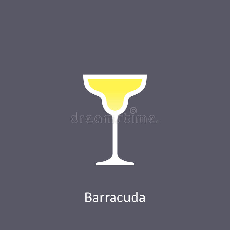 Barracuda cocktail icon on dark background in flat style. Vector illustration vector illustration