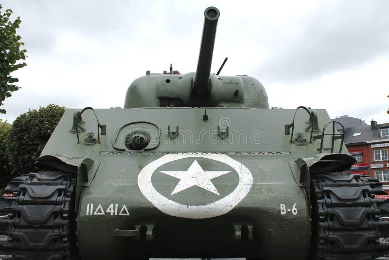 Barracuda Sherman Tank - Bastogne photo stock
