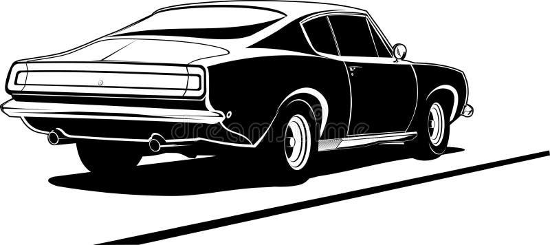 barracuda tylny widok ilustracji