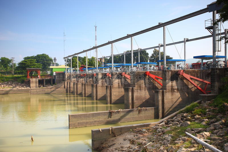 Barrage Asie du Sud-Est d'Irigation photo stock