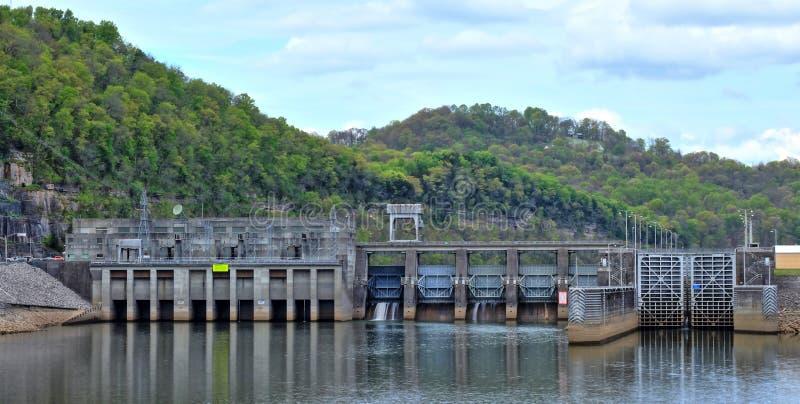 Barrage Carthage Tennessee de coque de Cordell image libre de droits