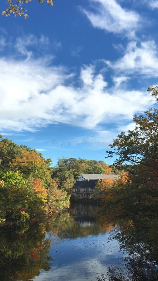 Barrage chez Newton Massachusetts image libre de droits