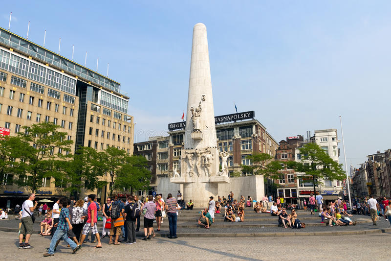 Barrage d'Amsterdam photos stock