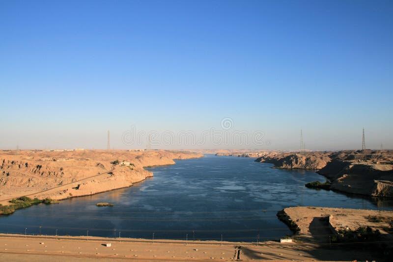 Barrage d'Aswan image libre de droits