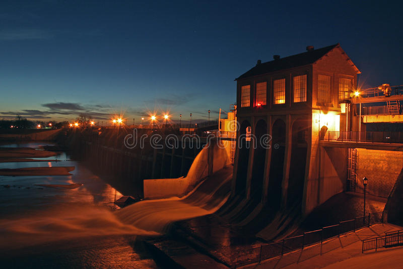 Barrage d'Overholser de lac photos stock