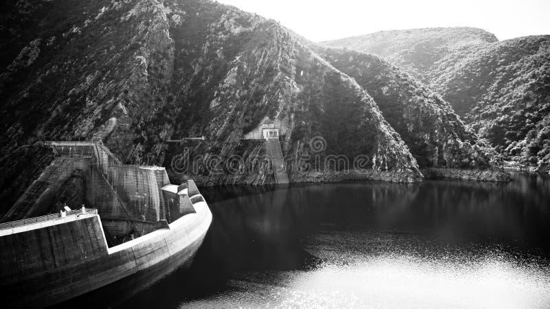 Barrage de B&W Kouga photo libre de droits