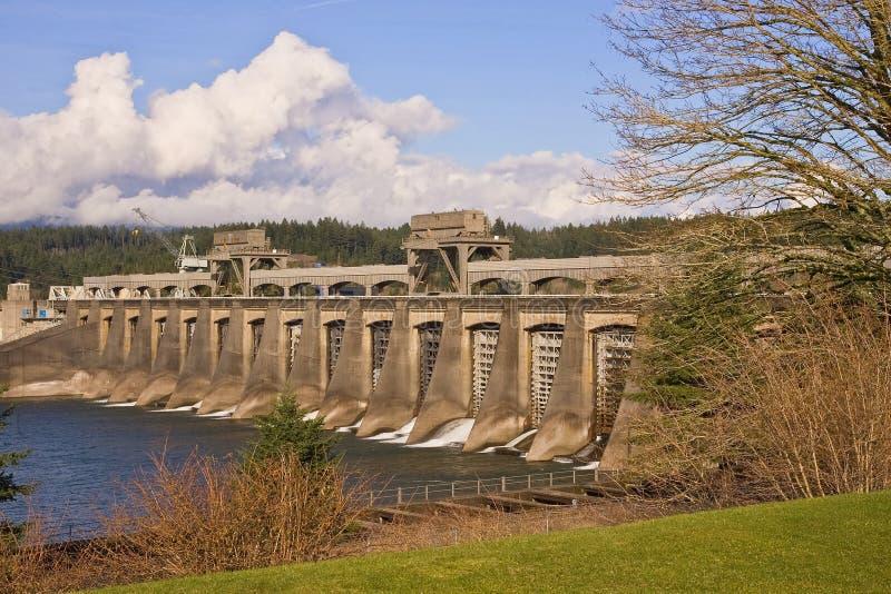 Barrage de Bonneville image libre de droits