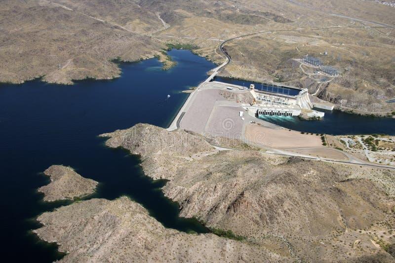 Barrage de Davis. images libres de droits
