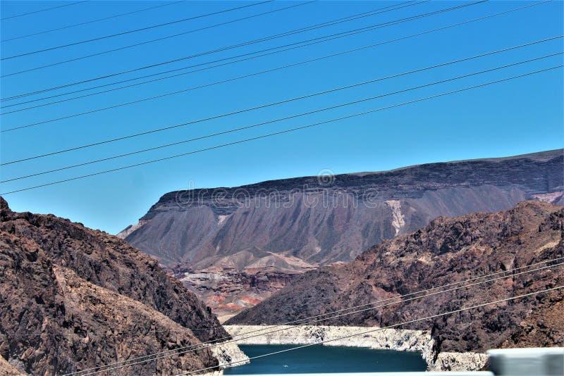 Barrage de Hoover, bureau de récupération, Clark County, Nevada/comté de Mohave Arizona, Etats-Unis photos libres de droits