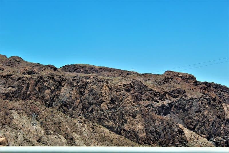 Barrage de Hoover, bureau de récupération, Clark County, Nevada/comté de Mohave Arizona, Etats-Unis photographie stock