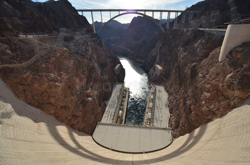 Barrage de Hoover, phénomène géologique, barrage, ciel, roche photographie stock