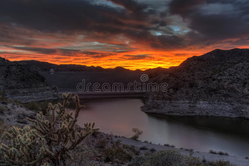 Barrage de lac alamo photos stock