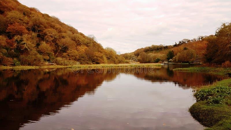 Barrage de Lopwell dartmoor devon LE R-U images libres de droits