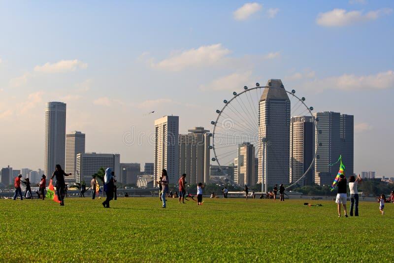 Barrage de marina, Singapour   photo stock