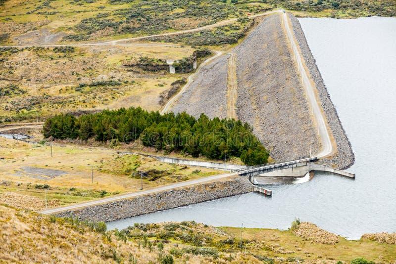 Barrage de Pisayambo en Equateur central image stock