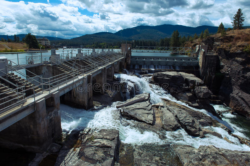 Barrage de Post Falls photo stock