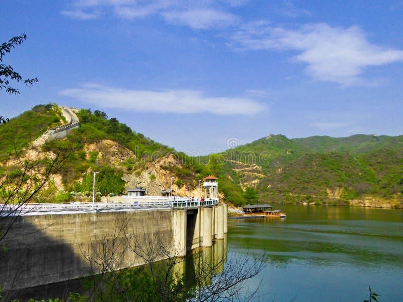 Barrage de réservoir de Grande Muraille de Huanghuacheng images stock