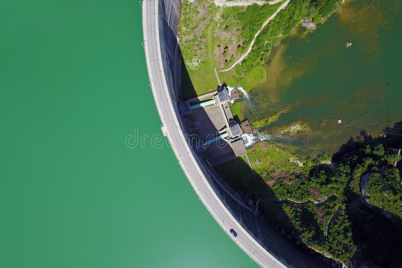 Barrage de Rossens, Suisse images libres de droits