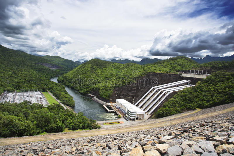 Barrage de Srinakarin, Kanchanaburi photo stock