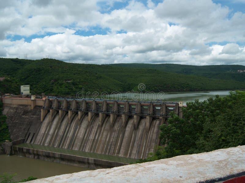 Barrage de Srisailam, Inde photo stock