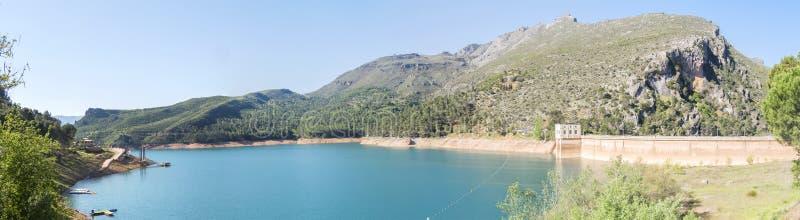 Barrage del Tranco, Guadalquivir river, Jaen, Spain.  royalty free stock image