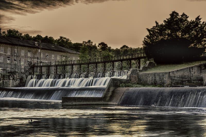Barrage et cascade de Prattville images stock