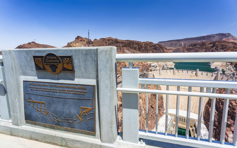 Barrage et lac de Hoover, frontière de l'Arizona et le Nevada, Etats-Unis d'Amérique, Amérique du Nord photos stock