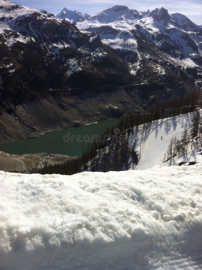 Barrage français de tignes d'Alpes image libre de droits