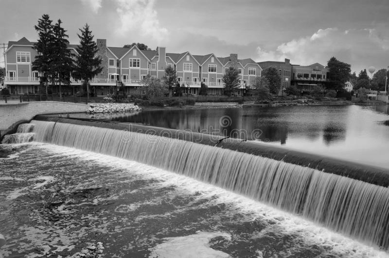 Barrage Grafton Wisconsin de rue de pont images libres de droits