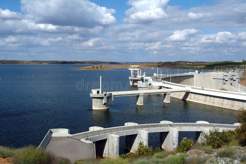 Barrage, hydroelectric. stock photos