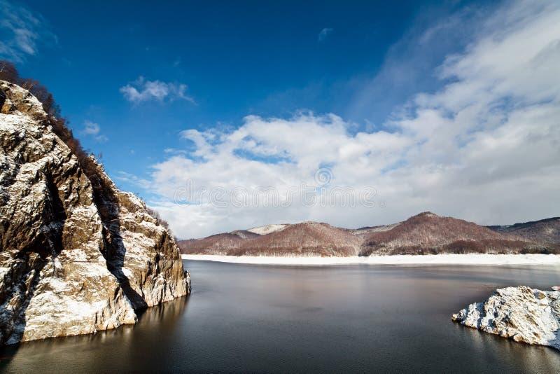 Barrage lake Vidraru royalty free stock images