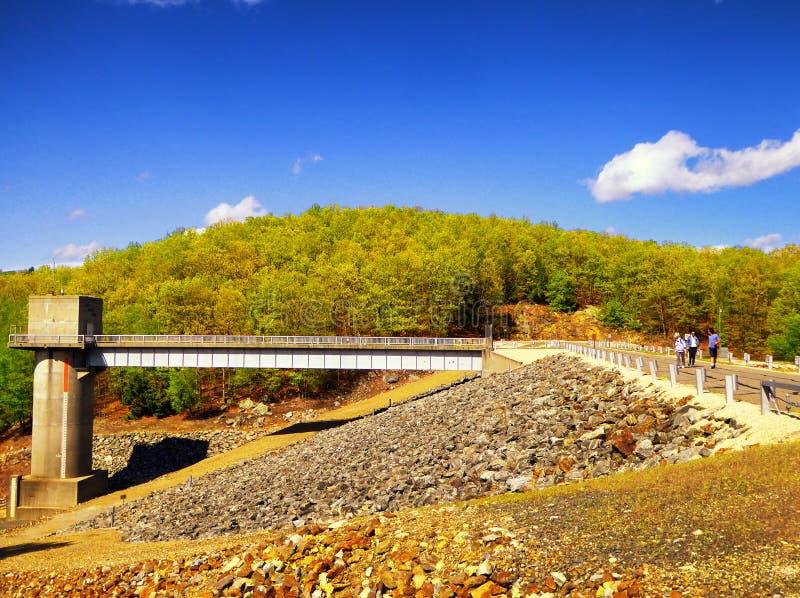 Barrage Naugatuck de ruisseau d'houblon photo libre de droits