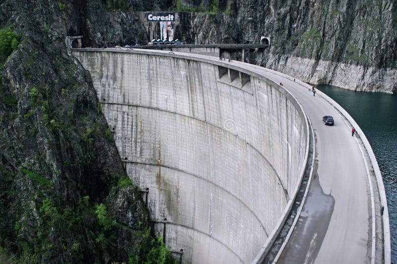 Barrage ou barajul Vidraru de Vidraru image libre de droits