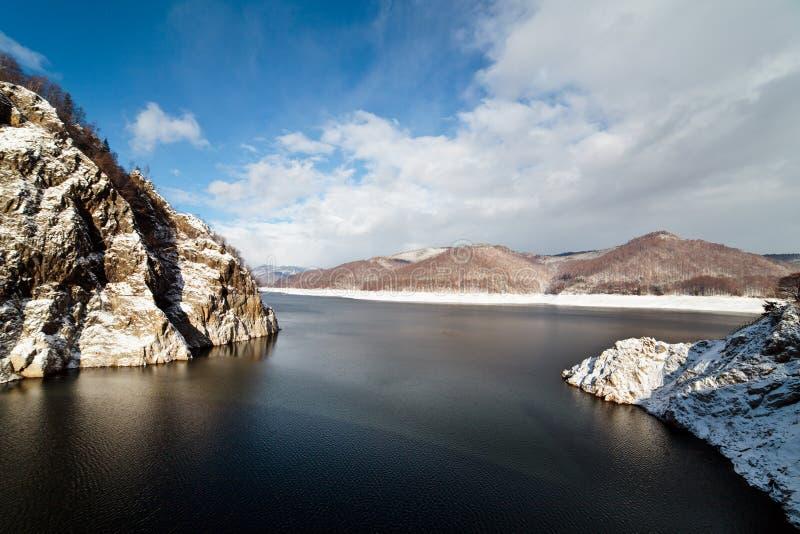 Barrage See Vidraru lizenzfreies stockbild